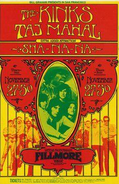 The Kinks and Taj Mahal, Fillmore West, San Francisco. Randy Tuten