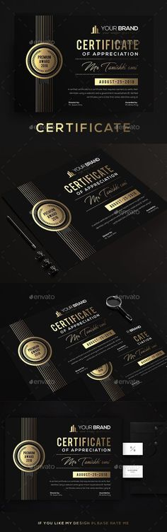Buy Certificate by DUrgaDesigns on GraphicRiver. Certificate Template Fully Clean Certificate Paper Size With BleedsQuick and easy to customize templatesAny Size C. Stationery Printing, Stationery Templates, Stationery Shop, Stationery Design, Print Templates, Certificate Design, Certificate Templates, Print Design, Graphic Design