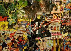 DC Boyz collage art deco creative leisure detective comics