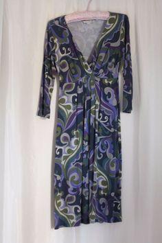 Boden Jersey Dress Indigo Blue Mix UK8 #Boden #Dress #Casual