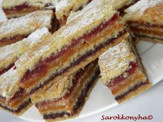 Delicious homemade dessert with jam-very unusual and quick to prepare. I suggest you bake cakes with Romanian Desserts, Romanian Food, Homemade Desserts, Dessert Recipes, Yummy Treats, Sweet Treats, Prune, Something Sweet, Deserts