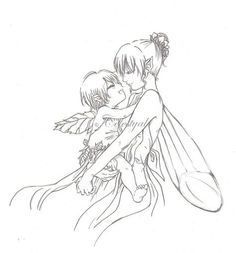 Fairy+Drawings   Fairy Mom and her baby by ~Celestyal on deviantART