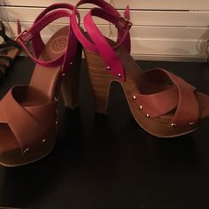 Chunky heels in great condition! by Jessica Simpson. Shoes Heels