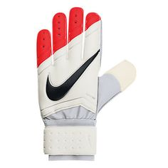 Nike Spyne Pro Soccer Goalkeeper Glove (White/Total Crimson)