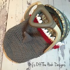 This is a PDF crochet pattern for a shark car seat cozy! This cozy is designed to either wrap under the bottom of car seat or stay inside the car seat with babies feet tucked inside the bottom pouch. The pouch will not interfere with car seat buckles! I've also included a larger size for bigger car seats. It's the perfect cozy for your little ones to snuggle up with in the car. They will love the feel of Bernat Blanket yarn and it washes up great too! Use Pale or Dark Grey for the sharks…