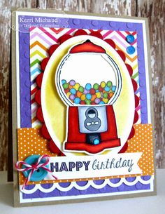Gumball machine - Cards by Kerri 1-6-15