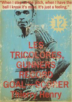 Vintage football poster by Zoran Lucic, henry Football Art Ptrint