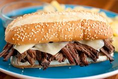 Slow Cooker French Dip Sandwiches (5 minutes prep recipe) - Cooking Classy
