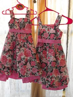 Floral Pink and Chocolate brown with Silver by ChloizzysCloset, $35.00