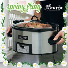 Have your entered our Pinterest sweepstakes yet? Enter today for your chance to win your favorite Crock-Pot® Slow Cooker (like this Crock-Pot® Programmable Cook & Carry™ Slow Cooker). Visit https://www.facebook.com/CrockPot/app_600948003314659?ref=ts to pin your favorite Crock-Pot® Slow Cooker for your chance to win it! Sweepstakes ends 4/10/15. #CrockPot #SlowCooker #spring #recipe #sweepstakes [Promotional Pin]