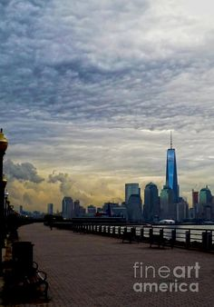 Lower Manhattan Skyline - photograph by James Aiken  Lower Manhattan Skyline - Fine Art Prints and Posters for Sale  james-aiken.artistwebsites.com  #jamesaiken #freedomtower #nycskyline #worldtradecenter