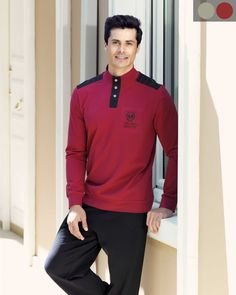 Şahinler Metal Düğmeli Pijama Takım Polo Shirt, T Shirt, Athletic, Long Sleeve, Sleeves, Mens Tops, Jackets, Fashion, Moda