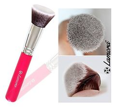 Foundation Brush Flat Top Kabuki for Face Makeup - Perfect For Blending Liquid, Cream or Flawless Powder Cosmetics - Buffing, Stippling, Concealer - Premium Quality Synthetic Dense Bristles!