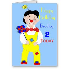 Such a cute birthday card for a young child with a fun Circus Clown picture and its so easy to personalize with a name and age for that extra special touch. #cute #age #personalized #numbers #birthday #circus #clown #clowns #circus-clown #cute-picture #name #kids #toddlers #little #girl #boy #bright #colorful #1 #today #2 #today #3 #today #4 #today #cards #fun #cute-clown #funny #happy-picture