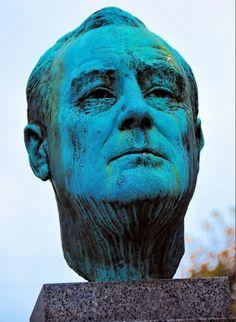Franklin D. Roosevelt Monument  detail  Copenhagen Denmark
