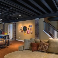 Basement open ceiling Design Ideas, Pictures, Remodel and Decor