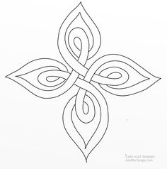 Celtic Knot Template 14 *not designed for glass