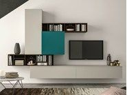 Mueble modular de pared composable SLIM 101 by Dall'Agnese