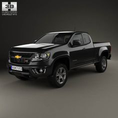 Chevrolet Colorado Extended Cab 2014 3d model from humster3d.com. Price: $75