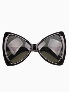 Shop Bow Shaped Sunglasses in Black from choies.com .Free shipping Worldwide.