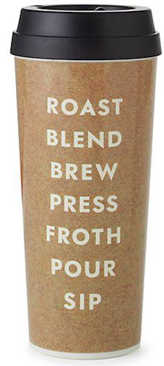 Cute brown coffee travel mug