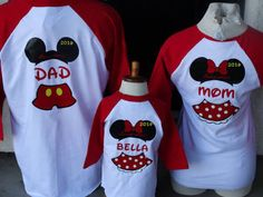 Free Shipping Disney Inspired Couples Baseball 3/4 long sleeve T Shirts Mickey and Minnie Family of 3.