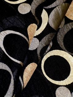 "Pattern Milky Way Color Black  see at chenille accented modern contemporary geometric design upholstery fabric, from Marcovaldo Fabrics  repeat 13 1/2""H 29""V 54""W  56% polyester 44% rayon  discount designer price $24.95 per yard, limited quantity  #homedecor #interiordecorating #upholsteryfabric"