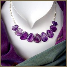 Amethyst and Sterling Silver  Necklace £149.00