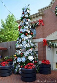 car themed christmas tree disney wordless wednesday joy at california adventures cars land