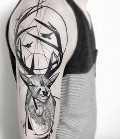 Sketch style stag by Frank Carrilho