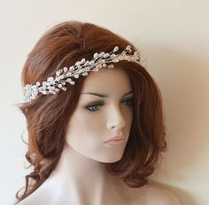 Wedding Headband Bridal Hair Vine Bridal Headband by ADbrdal