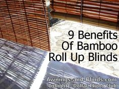 On a tight budget? Shading and privacy with affordable bamboo roll up shades. 9 Benefits of bamboo blinds (video tutorial) Patio Blinds, Outdoor Blinds, Bamboo Blinds, Wood Blinds, Roman Blinds, Blinds For Windows Living Rooms, House Blinds, Outdoor Bamboo Shades, Porch Shades