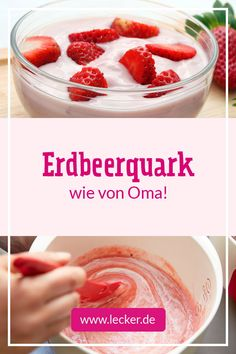 Schmeckt einfach nach Kindheit und Erdbeerquark ist das wohl einfachste… Just tastes like childhood and Strawberry quark is probably the simplest ever and probably the most divine combination of and cottage cheese! It tastes like grandma! Easy Vanilla Cake Recipe, Easy Cake Recipes, Easy Desserts, Cookie Recipes, Dessert Recipes, Dessert Simple, Best Pancake Recipe, Sin Gluten, Food Items