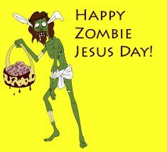 Happy Zombie Jesus Day by Thunder-Tomoko on DeviantArt Resurrection Day, Atheist Humor, He Has Risen, Religion And Politics, Are You Happy, Funny Pictures, Funny Pics, Funny Stuff, Cool Photos