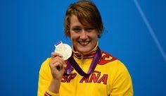 Mireia Belmonte, campeona mundial, europea y doble subcampeona olímpica, que compite en las categorías deestilos,mariposaylibre. Muy grande!!!!