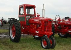 """Farmall M ..LOL!! These are the tractors in the movie CARS that Mater likes """"Tractor Tipping"""""""".."""