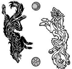 Celtic Tattoos Wolf Lower Back Tattoos Irish Celtic Tattoos, Celtic Tattoo Family, Celtic Tattoo Meaning, Celtic Tattoo For Women, Celtic Tattoo Symbols, Celtic Wolf Tattoo, Family Tattoos, Norse Mythology Tattoo, Norse Tattoo