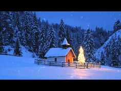 Little Chapel with Christmas Tree at Elmau, Bavaria, Germany by Coy christmas tree images Christmas Tree Images, Christmas Scenes, Noel Christmas, Christmas Music, Country Christmas, All Things Christmas, Winter Christmas, Christmas Lights, Winter Snow