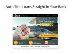Easy car title loans in US | www.fastcartitleloans.net
