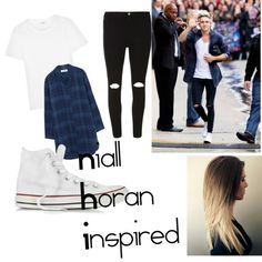 Niall Horan Look Alike by dream1designer on Polyvore featuring polyvore fashion style Yves Saint Laurent MiH Jeans Dorothy Perkins Converse