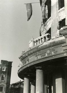 Stalingrad — The German flag over the Red Square, October 1942.