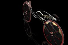 super bike cycle disc wheel black golden red sakura blossom flower speed
