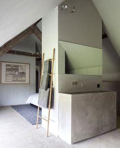Bathroom - Barn House DBB in Knokke Belgium by Govaert & Vanhoutte Architects