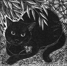 Lucky Kirsty ~ Wood Engraving ~ Rosamund Fowler