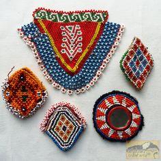 Vintage Tribal Talisman:  Kuchi Beaded Remnant Amulet/Patch Set #26