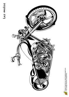 Coloring transports the motorcycles 07 Bike Tattoos, Motorcycle Tattoos, Motorcycle Art, Motorcycle Design, Bike Art, Bike Design, Harley Davidson Decals, Harley Davidson Tattoos, Harley Davidson Bikes