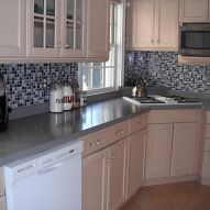 Kitchen Backsplash- it's not tile it's a DECAL! We do our best to make home improvements on a budget. Sprucing up the kitchen was on our list, but adding a...