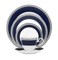 Noritake Odessa Cobalt Platinum China Collection at www.younkers.com