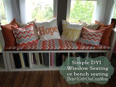A simple, comfy and very sturdy window seat #DIY project that everyone can make at home