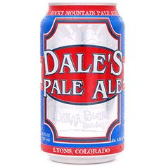 Dale's Pale Ale, Oskar Blues Brewery, Longmont, CO and Brevard, NC. America's first hand-canned craft beer is a voluminously hopped mutha that delivers a hoppy nose, assertive-but-balanced flavors of pale malts and hops from start to finish. First canned in 2002, Dale's Pale Ale is a hearty (6.5% and 65 IBUs), critically acclaimed trailblazer that has changed the way craft beer fiends perceive canned beer.